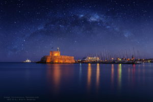 Starry night at Rhodes 1