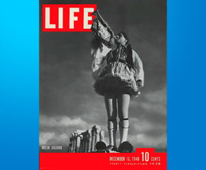 Life Magazine dedicated to the Greek soldier 1