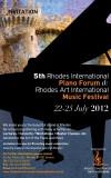 5th Rhodes International Piano Forum