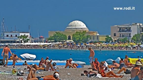 Hot week in Rhodes