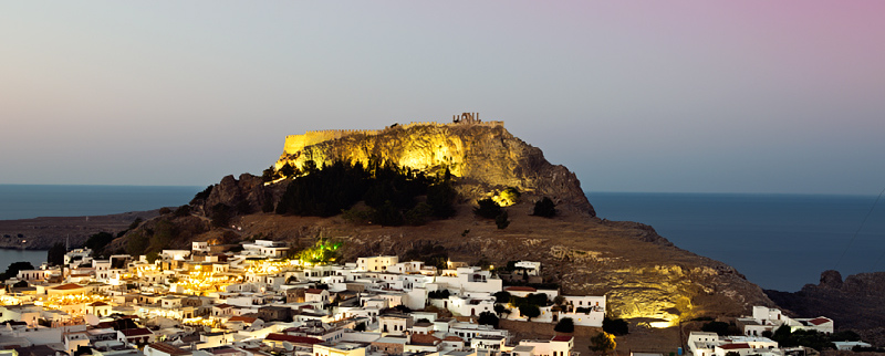 Lindos' Acropolis new illumination project