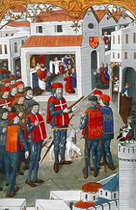 The Knights of Rhodes preparing the defense against the Ottomans