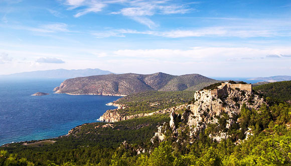 The west coast of Rhodes