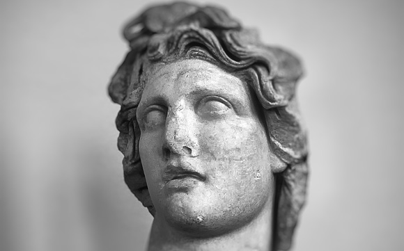 The marble head of Apollo