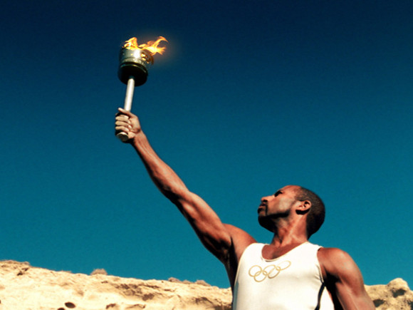 The Olympic Torch in Kastelorizo