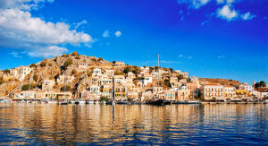 Symi, the harbor by Guy Fattal  1